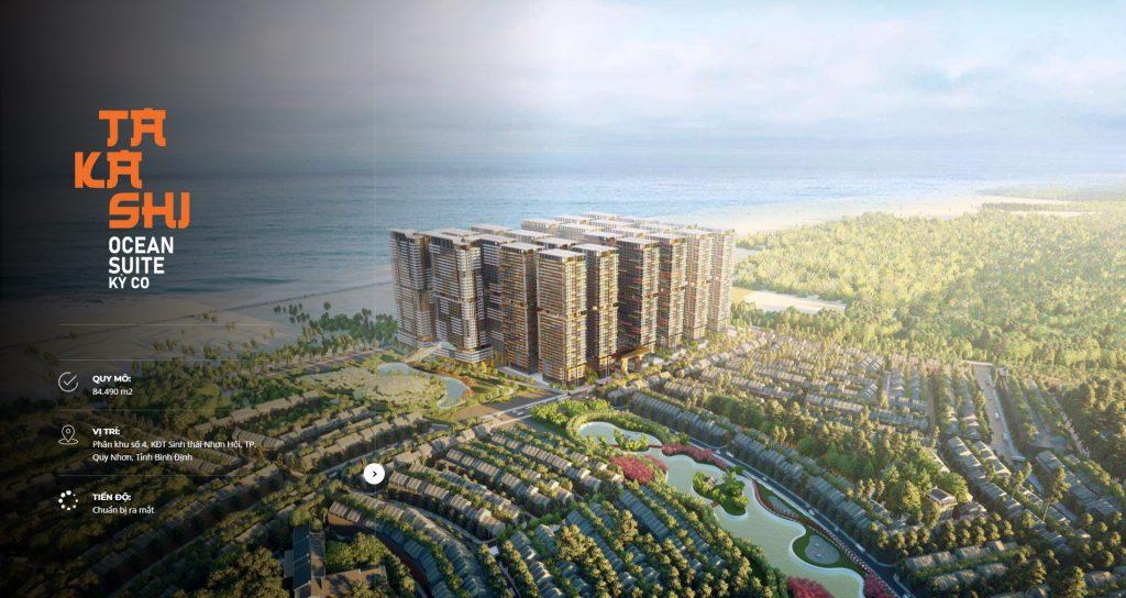 Phối cảnh dự án Takashi Ocean Suite Quy Nhơn